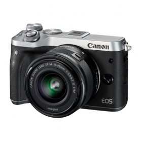 佳能(Canon) EOS M6 數碼相機連EF-M 15-45mm f/3.5-6.3 IS STM鏡頭套裝