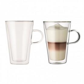 BODUM CANTEEN 2入雙層附把玻璃杯 (0.4L)