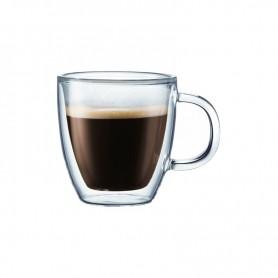 BODUM BISTRO 2入雙層附把玻璃杯(0.3L)