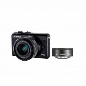 佳能(Canon) EOS M100 連EF-M 15-45mm f/3.5-6.3 IS STM及EF-M 22mm f/2 STM雙鏡頭套裝數碼相機