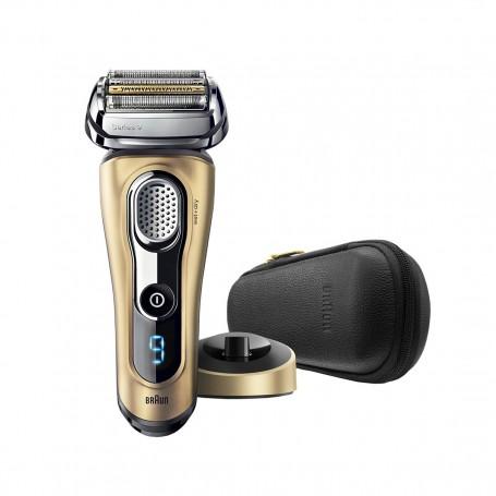 百靈牌(Braun) Series 9 9299ps 男士電鬚刨可乾濕兩用,配備提升精凖修剪器、充電插座和旅行盒 (金色特別版)