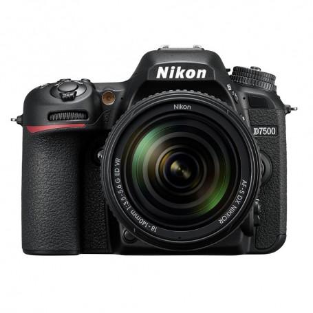 尼康(Nikon) D7500 連 AF-S DX 尼克爾 18-140mm f/3.5-5.6G ED VR 鏡頭套裝單鏡反光相機適用於單反相機: D7500/AFSDX18-140MMG